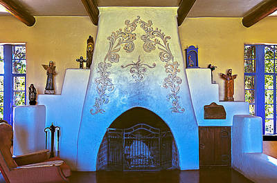 Photograph - Spanish Fireplace by Maria Coulson