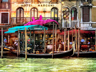Hotel Marconi.venice. Art Print by Jennie Breeze