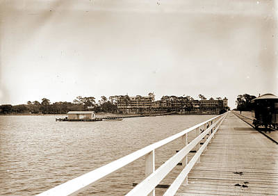 Florida Bridge Drawing - Hotel Ormond From Bridge, Ormond, Fla, Hotels, Resorts by Litz Collection