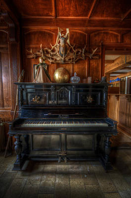 Spooky Digital Art - Hotel Piano by Nathan Wright