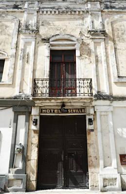 Digital Art - Hotel Sevilla Entance Merida Yucatan Mexico Diffuse Glow Digital Art by Shawn O'Brien