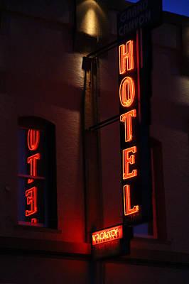 Photograph - Hotel Sign by Deb Buchanan