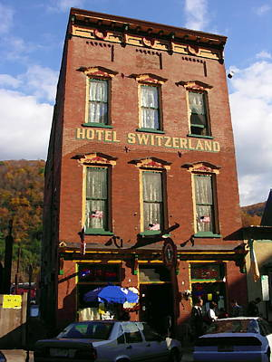 Photograph - Hotel Switzerland In Jim Thorpe Pa by Jacqueline M Lewis