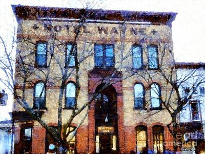The Main Photograph - Hotel Wayne Honesdale Pennsylvania by Janine Riley