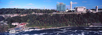 Hotels In A City From Niagara Falls Art Print by Panoramic Images