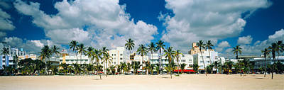 Beach Nobody Photograph - Hotels On The Beach, Art Deco Hotels by Panoramic Images