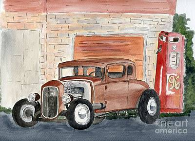 Art Print featuring the painting Hotrod by Eva Ason