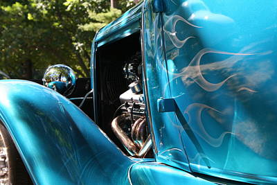 Classic Cars Photograph - Hotrod Ghost Flames by Heather Allen