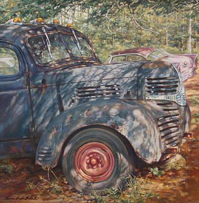 Dodge Truck Painting - Hound Dog Dodge by Sharon Jordan Bahosh