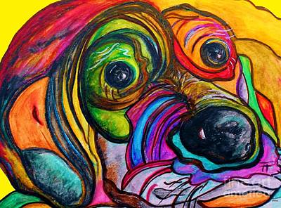 Big Dog Painting - Hound Dog by Eloise Schneider