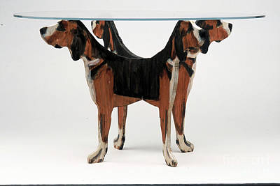 Mixed Media - Hound Table by Bill Thomson