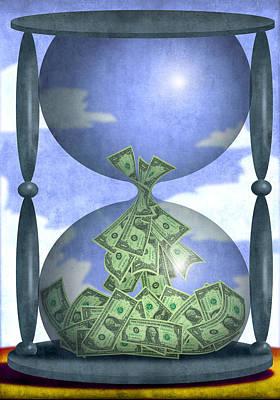Painter Digital Art - Hourglass Dollars by Steve Dininno