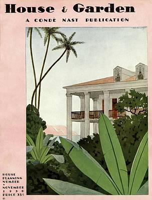 Photograph - House & Garden Cover Illustration by Andre E.  Marty