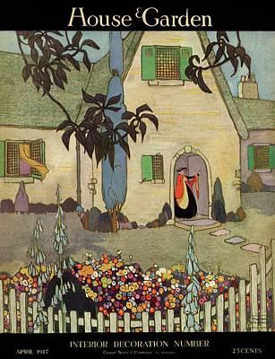 Garden Flowers Photograph - House & Garden Cover Illustration Of An by Porter Woodruff