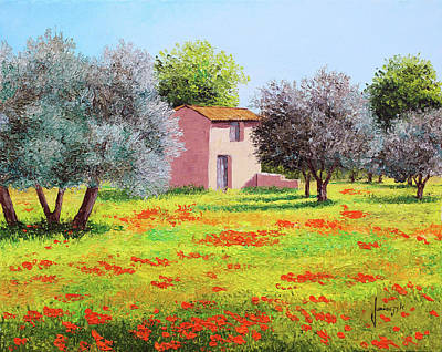 Painting - House Among Olive Trees by Jean-marc Janiaczyk