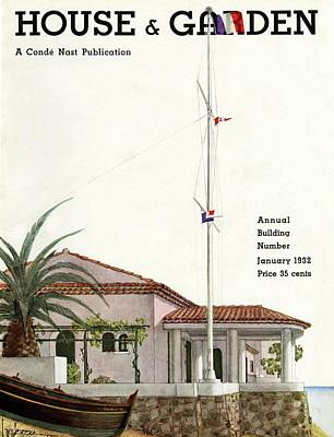 Photograph - House And Garden Annual Building Number Cover by Georges Lepape
