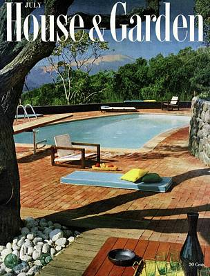 Deck Chair Photograph - House And Garden Cover Featuring A Terrace by Georges Braun