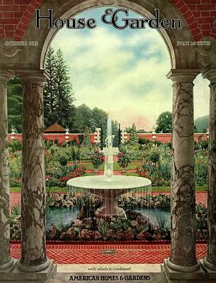 Photograph - House And Garden Cover by Herbert Angell