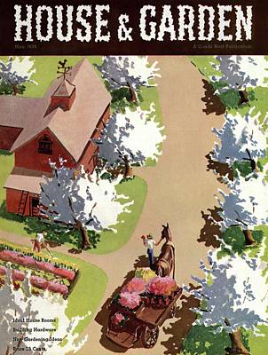 House And Garden Cover Art Print by John Gibbs