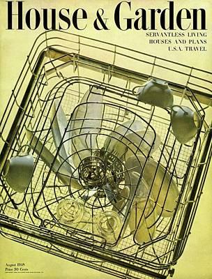 House And Garden Servant Less Living Houses Cover Art Print
