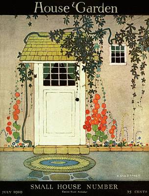 House And Garden Small House Number Cover Art Print