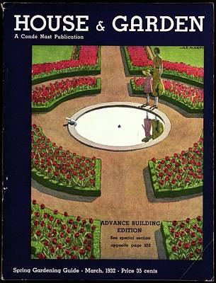 Photograph - House And Garden Spring Gardening Guide Cover by Andre E.  Marty