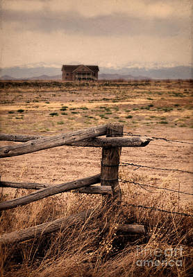 Split Rail Fence Photograph - House And Mountains by Jill Battaglia