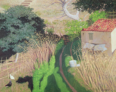 Rooster And Hen Painting - House And Reeds by Felix Edouard Vallotton