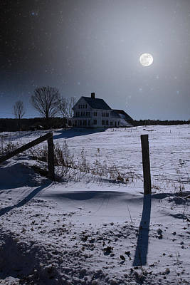 Photograph - House At Night by Larry Landolfi