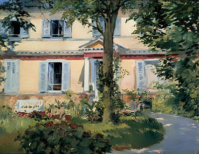 Historic Garden Painting - House At Rueil by Mountain Dreams