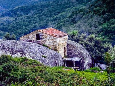 Photograph - House Between Rocks - Corsica - Between A Rock And A Hard Place by Martin Liebermann