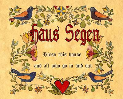 House Blessing Original by Joan Shaver