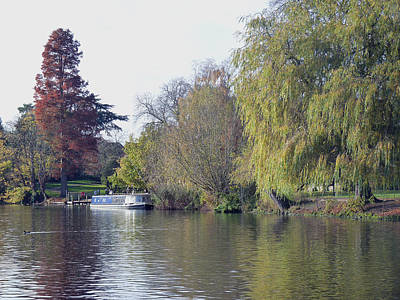 Photograph - House Boat On River Avon by Tony Murtagh