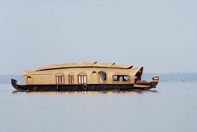 House Boat On The Backwaters Of Kerala Art Print by Keren Su