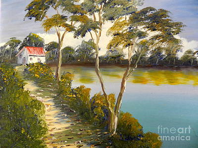 House By The Lake Art Print