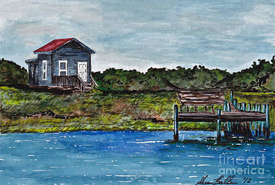 House By The Sea Art Print by Sheena Pape