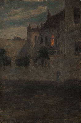 House By The Water  Art Print by Henri Duhem