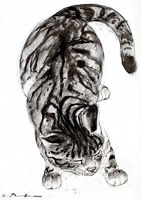 House Cat Art Print by Kurt Tessmann
