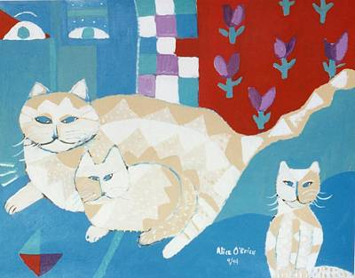 House Cats Art Print by Allison  Fauchier
