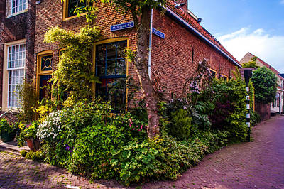 Red Roof Photograph - House Decoration. Brielle. Netherlands by Jenny Rainbow