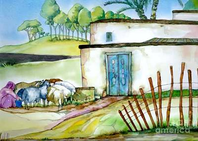 Painting - House From Foxy Tales 2 by Donna Acheson-Juillet