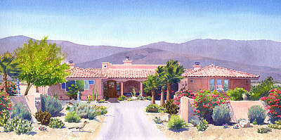 Runner Painting - House In Borrego Springs by Mary Helmreich