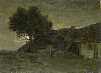 House In Evening Light, Théophile De Bock Art Print