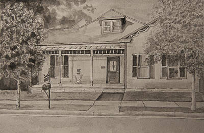 Franklin Tennessee Drawing - House In Franklin Tennessee by Arthur Witulski