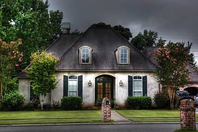 Photograph - House In Hdr by Cecil Fuselier