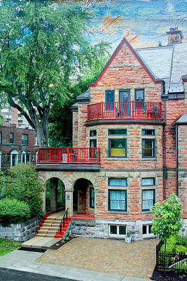 Photograph - House In Montreal by Carlos Diaz