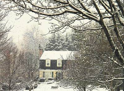 Photograph - House In Snow by Joyce Kimble Smith
