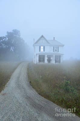 Photograph - House In The Fog by Jill Battaglia