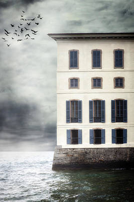 Manor Photograph - House In The Sea by Joana Kruse