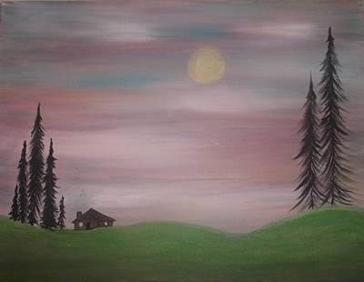 House In The Woods Art Print by Tina Murray